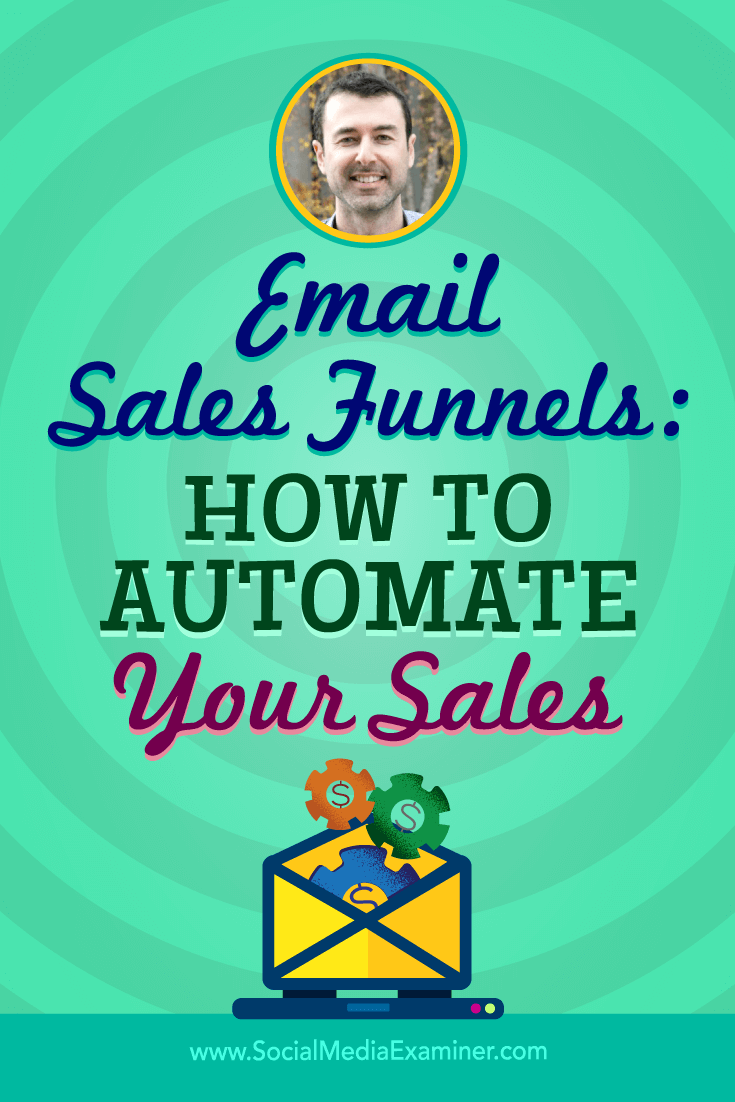 Email Sales Funnels: How to Automate Your Sales featuring insights from Yaro Starak on the Social Media Marketing Podcast.