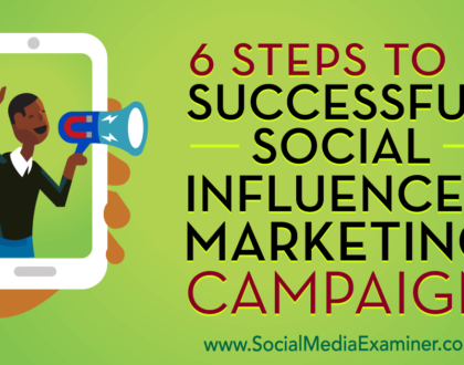 Social Media Marketing - 6 Steps to a Successful Social Influencer Marketing Campaign