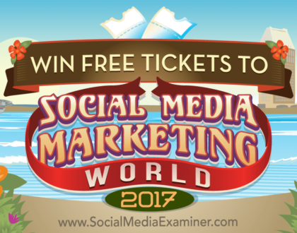 Social Media Marketing - Win Free Tickets to Social Media Marketing World 2017