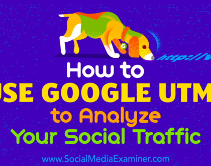 Social Media Marketing - How to Use Google UTMs to Analyze Your Social Traffic