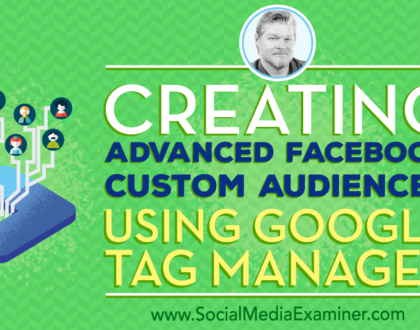 Social Media Marketing - Creating Advanced Facebook Custom Audiences Using Google Tag Manager