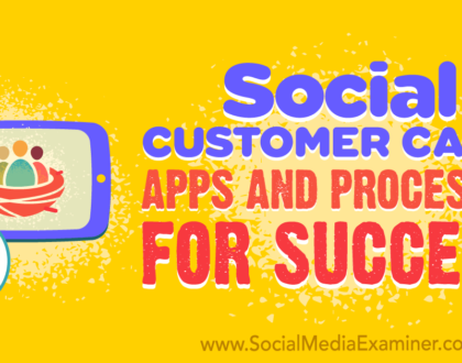 Social Media Marketing - Social Customer Care: Apps and Processes for Success