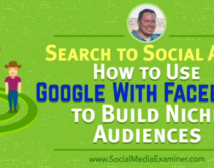 Social Media Marketing - Search to Social Ads: How to Use Google With Facebook to Build Niche Audiences