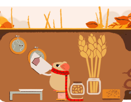 SEO - Autumn equinox 2017 Google doodle returns mouse featured the 1st day of spring & summer