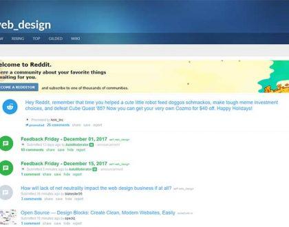 Web Design - 10 Best Subreddits For UI & UX Designers