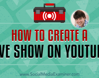 Social Media Marketing - How to Create a Live Show on YouTube