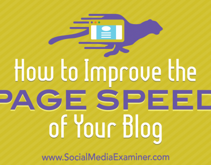 Social Media Marketing - How to Improve the Page Speed of Your Blog