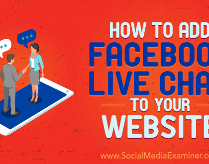 Social Media Marketing - How to Add Facebook Live Chat to Your Website