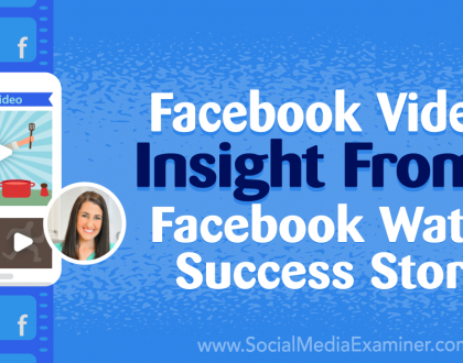 Social Media Marketing - Facebook Video: Insight From a Facebook Watch Success Story