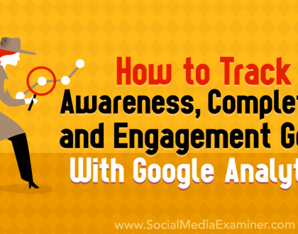 Social Media Marketing - How to Track Awareness, Completion, and Engagement Goals With Google Analytics