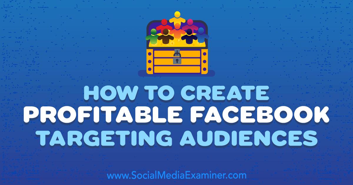 Social Media Marketing - How to Create Profitable Facebook Targeting Audiences