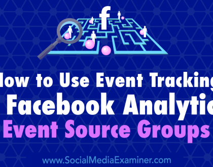 Social Media Marketing - How to Use Event Tracking in Facebook Analytics: Event Source Groups