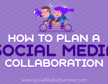 Social Media Marketing - How to Plan a Social Media Collaboration