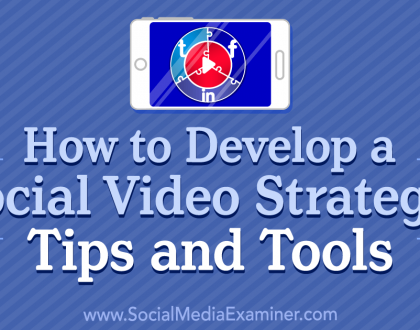 Social Media Marketing - How to Develop a Social Video Strategy: Tips and Tools
