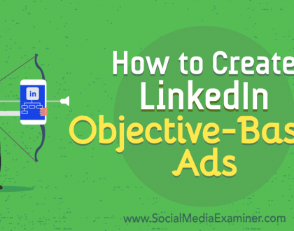 Social Media Marketing - How to Create LinkedIn Objective-Based Ads