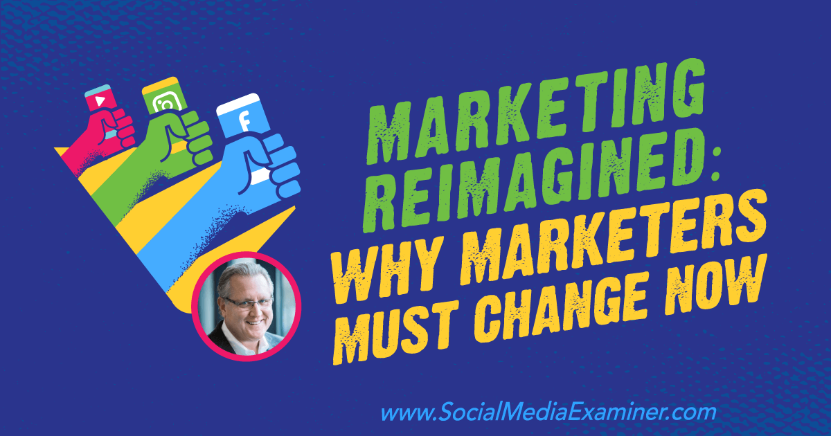 Social Media Marketing - Marketing Reimagined: Why Marketers Must Change Now