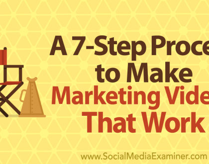 Social Media Marketing - A 7-Step Process to Make Marketing Videos That Work