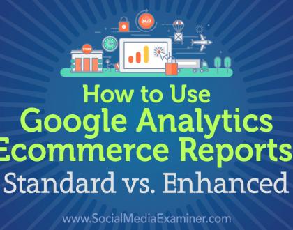 Social Media Marketing - How to Use Google Analytics Ecommerce Reports: Standard vs. Enhanced