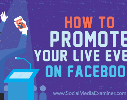 Social Media Marketing - How to Promote Your Live Event on Facebook