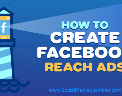 Social Media Marketing - How to Create Facebook Reach Ads