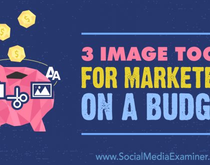 Social Media Marketing - 3 Image Tools for Marketers on a Budget