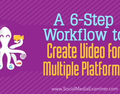 Social Media Marketing - A 6-Step Workflow to Create Video for Multiple Platforms