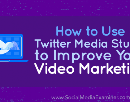 Social Media Marketing - How to Use Twitter Media Studio to Improve Your Video Marketing