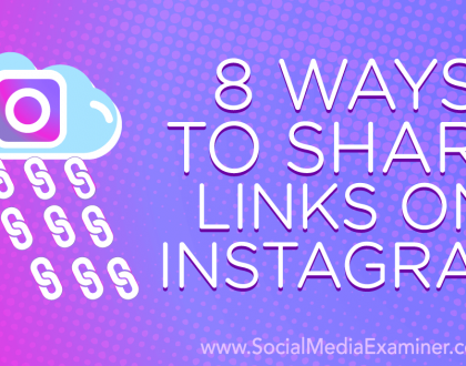 Social Media Marketing - 8 Ways to Share Links on Instagram