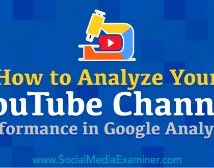Social Media Marketing - How to Analyze Your YouTube Channel Performance in Google Analytics