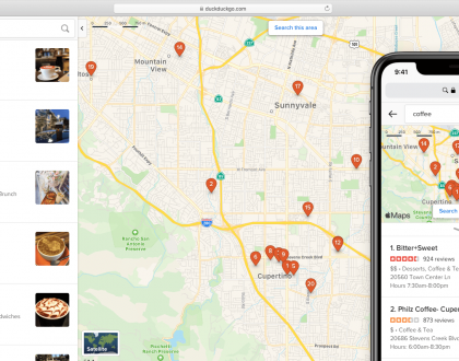 PPC - DuckDuckGo expands its maps UI with a few familiar features