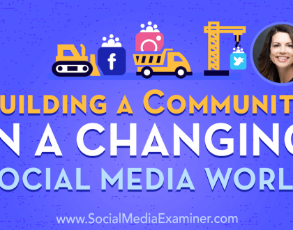 Social Media Marketing - Building a Community in a Changing Social Media World