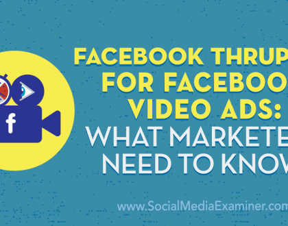 Social Media Marketing - Facebook ThruPlay for Facebook Video Ads: What Marketers Need to Know