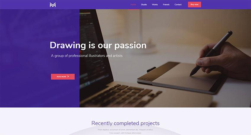 BeDrawing WordPress Theme
