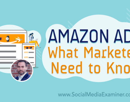 Social Media Marketing - Amazon Ads: What Marketers Need to Know