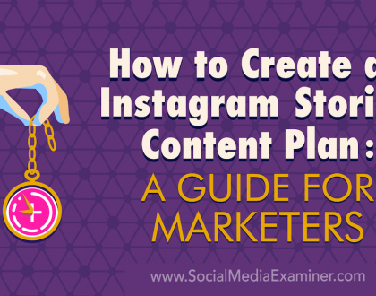 Social Media Marketing - How to Create an Instagram Stories Content Plan: A Guide for Marketers