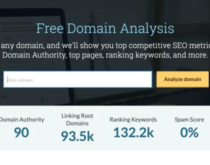 SEO - Moz launches Domain Analysis, free tool for SEO metrics