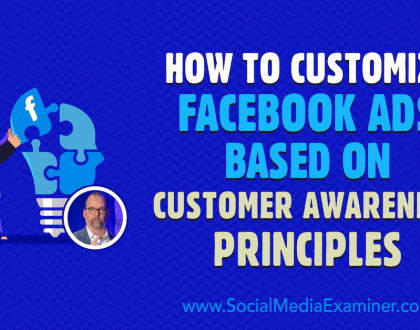 Social Media Marketing - How to Customize Facebook Ads Based on Customer Awareness Principles
