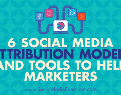 Social Media Marketing - 6 Social Media Marketing Attribution Models and Tools to Help Marketers