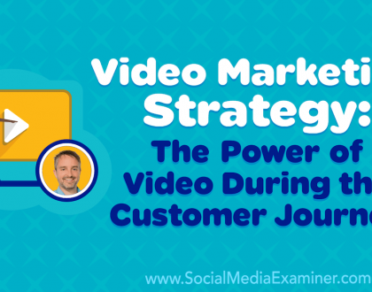 Social Media Marketing - Video Marketing Strategy: The Power of Video During the Customer Journey