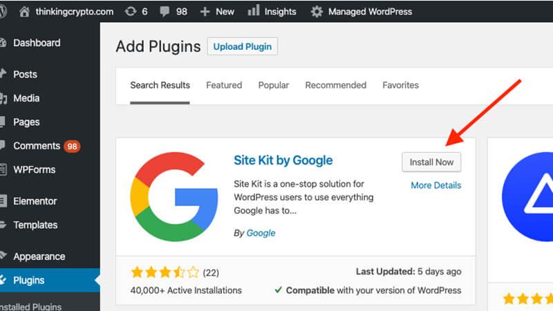 PPC - Here's how to set up the Google Site Kit WordPress plugin