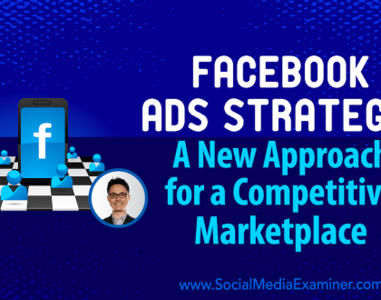 Social Media Marketing - Facebook Ads Strategy: A New Approach for a Competitive Marketplace