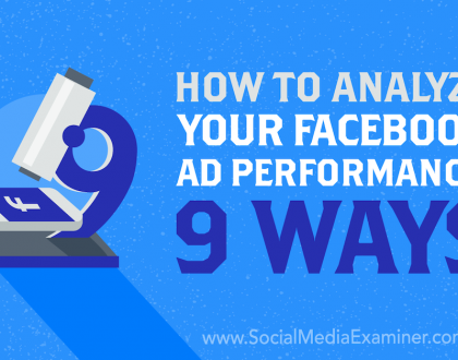 Social Media Marketing - How to Analyze Your Facebook Ad Performance: 9 Ways