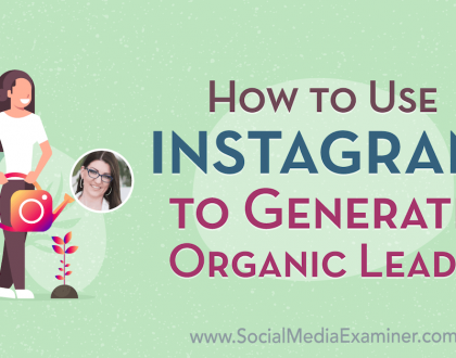 Social Media Marketing - How to Use Instagram to Generate Organic Leads