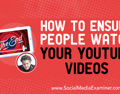 Social Media Marketing - How to Ensure People Watch Your YouTube Videos