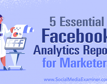 Social Media Marketing - 5 Essential Facebook Analytics Reports for Marketers