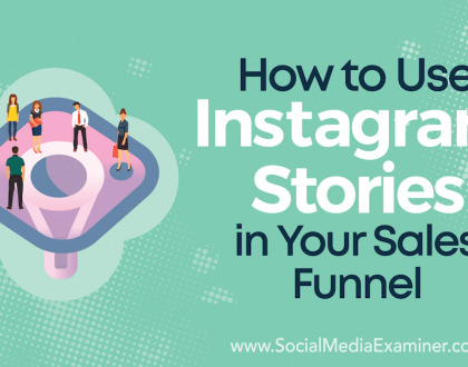 Social Media Marketing - How to Use Instagram Stories in Your Sales Funnel