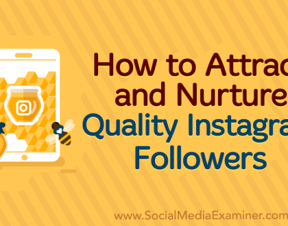 Social Media Marketing - How to Attract and Nurture Quality Instagram Followers