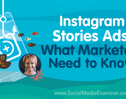 Social Media Marketing - Instagram Stories Ads: What Marketers Need to Know