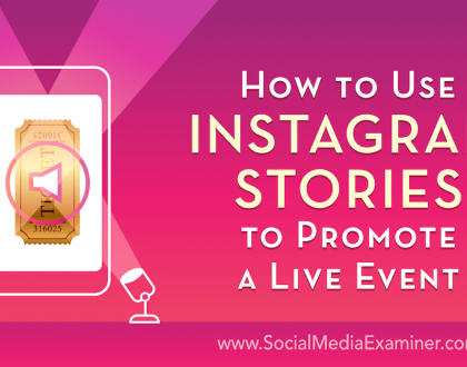 Social Media Marketing - How to Use Instagram Stories to Promote a Live Event