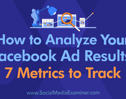 Social Media Marketing - How to Analyze Your Facebook Ad Results: 7 Metrics to Track